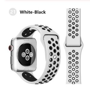 ❤️NEW White Black Sport Band For Apple Watch